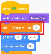 Gợi ý đặt lệnh set cho biến score
