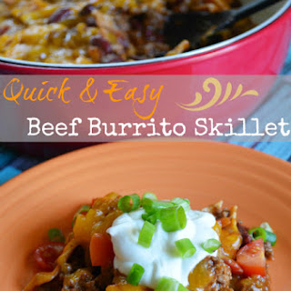Quick & Easy Beef Burrito Skillet