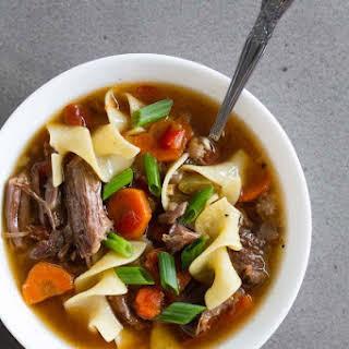 Slow Cooker Beef Noodle Soup.