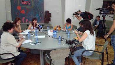 Photo: roda de premsa de presentació, Casa de Cultura