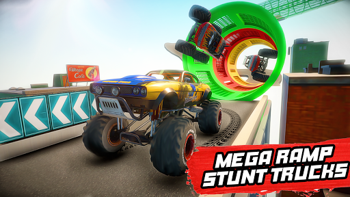 Mega Ramp Monster Truck Stunt Racing apkmr screenshots 1