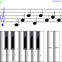 ¼ learn sight read music notes - piano sheet tutor icon