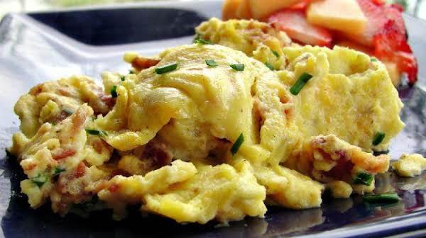 Creamy Scrambled Eggs W/bacon & Irish Cheese Recipe