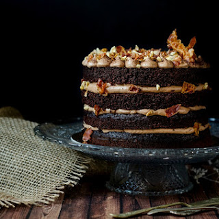 {Chocolate Bacon Cake}