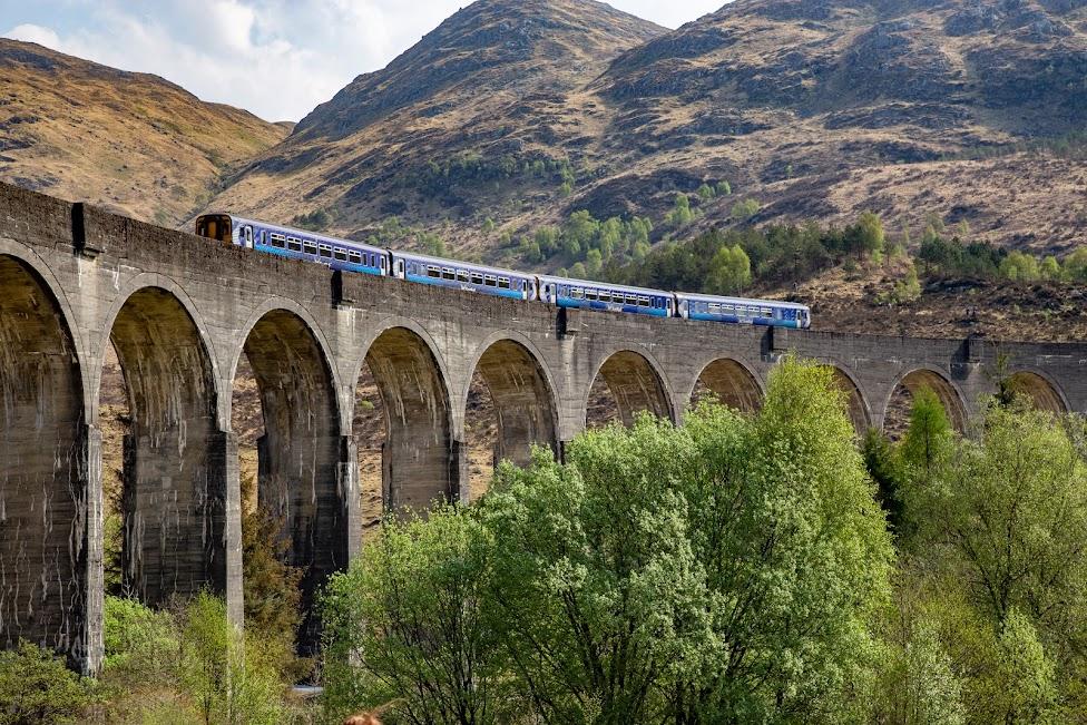 pociąg ScotRail, wiadukt Glenfinnan