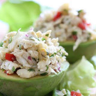 Avocado and Lump Crab Salad.