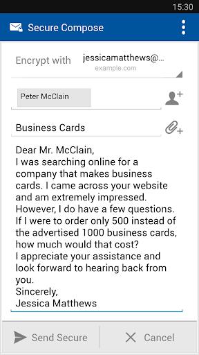 Business Class Email (BCE) screenshot 3