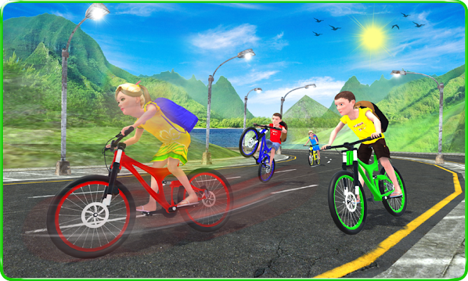 Kids School Time Bicycle Race Android 3