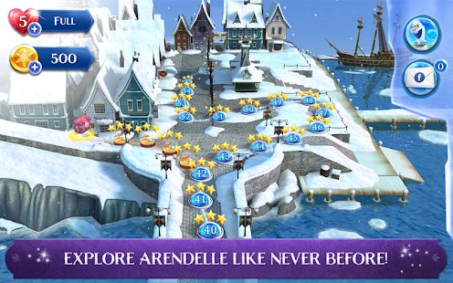 Frozen Free Fall: Icy Shot Screenshot