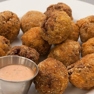 Red Beans and Rice Boudin Balls with Dipping Sauce.