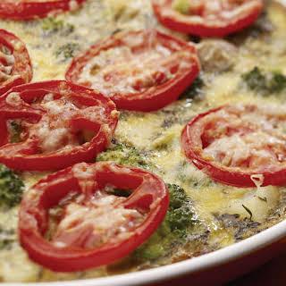 Broccoli and Potato Frittata.