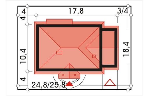 Sielanka II 35st. wer. B dach 4-spad., pojedyn. gar. paliwo stałe - Sytuacja