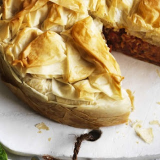 Pumpkin, Rice And Dill Filo Pie.