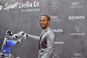 Laureus World Sportsman of the Year award winner Lewis Hamilton shared his accolade with Lionel Messi handed to them at the ceremony in Berlin on February 17, 2020.