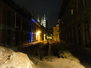 Photo: Wegenwerken in de stadskern van Doornik