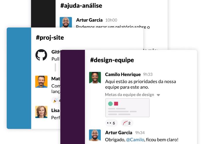 Slack é uma ferramenta de troca de mensagens e vídeos