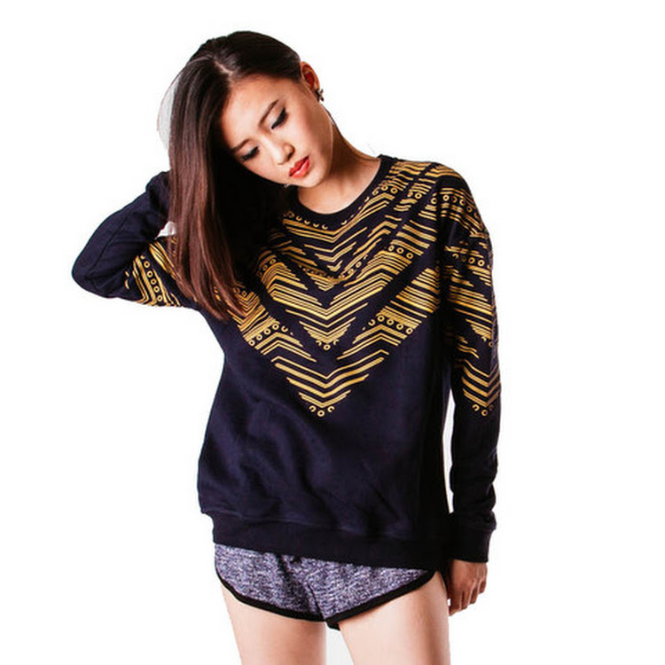 Chevy Sweater Navy Blue/Mustard by Meridian Street Sdn Bhd