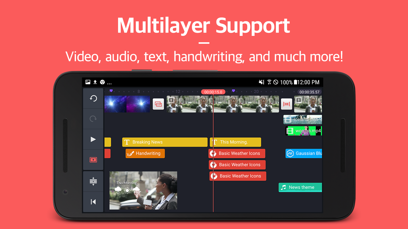 Screenshots of KineMaster – Pro Video Editor for iPhone