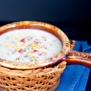 Slow Cooker Ham and Corn Chowder.