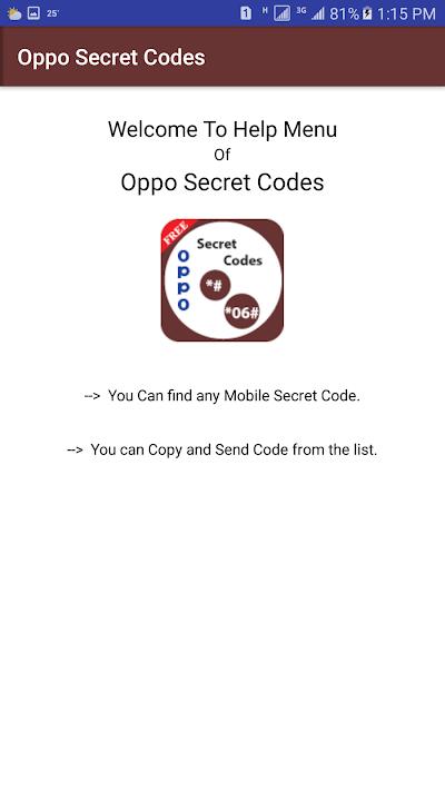 Secret Codes of Oppo Mobiles: APK Download - Apkindo co id