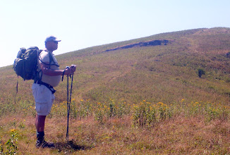 Photo: Israel talking to himself before he climbs that mean hill in front of him.