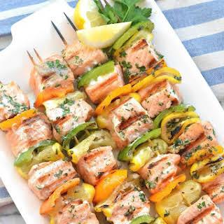 Easy Salmon Kebabs.