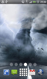 Tornado Storm Live Wallpaper Background Theme LWP