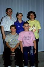 Photo: Brescia 7 giugno 1992: foto ricordo con Michele, Thomas Klima e Ivo Denemareck ospiti cecoslovacchi per il Memorial Luciana di nuoto