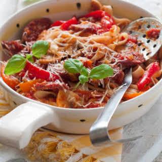 Crockpot Chorizo Pasta.