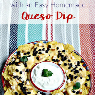 Tex Mex Nachos + Easy Homemade Queso Dip