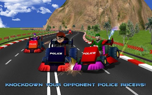 Kids Police Car Racing screenshot 6
