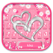 App Pink Silver Heart Keyboard Theme APK for Windows Phone