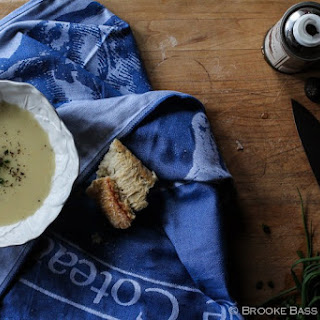 Potato and Leek Soup with Truffles