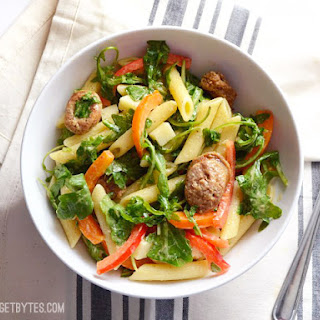 Pasta Salad with Sausage and Arugula