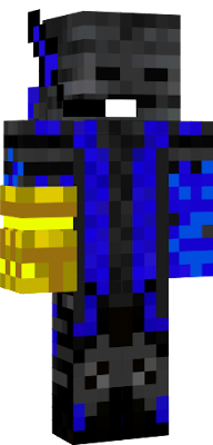 Another wither skin with a gauntlet from Story Mode! I enjoy making these! :D I'll see if there's a diamond gauntlet somewhere around here, and I'll been pleased to make the gauntlet out of diamond!