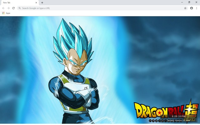 Vegeta New Tab & Wallpapers Collection