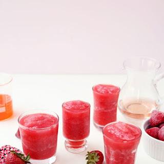 Strawberry Raspberry Rosé Slushies.
