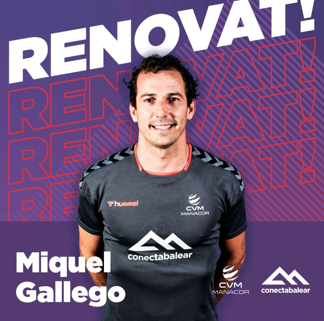 El capitán Miquel Gallego renueva con el ConectaBalear Manacor una temporada más
