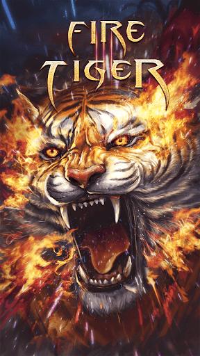Flame Tiger Live Wallpaper  screenshots 1