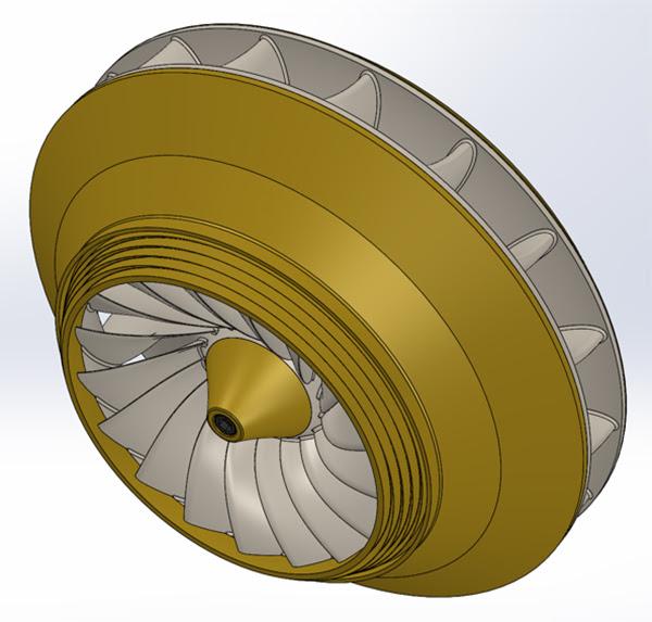 ANSYS - Рабочее колесо турбины HydroFlex Francis