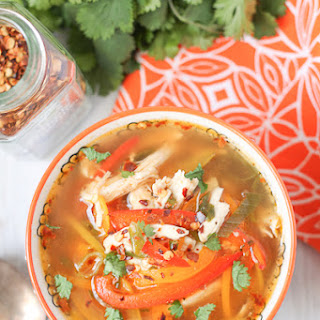 Spicy Chicken Soup with Peppers.