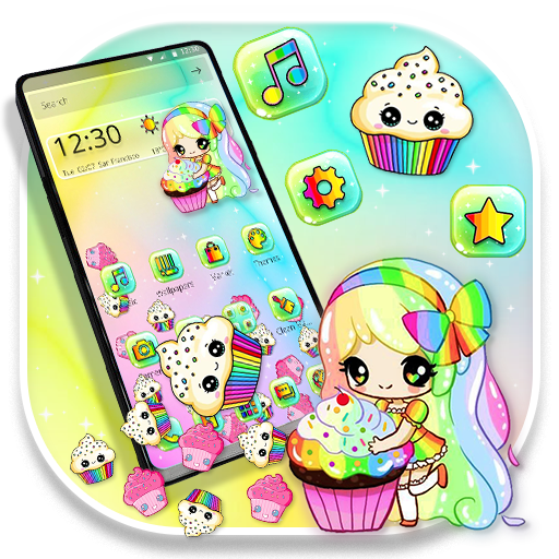 Delightful Sweet Cupcake Girl Gravity Theme