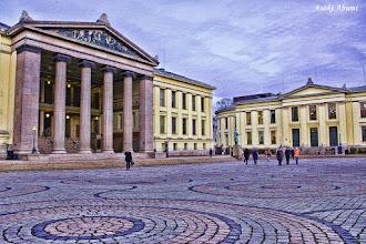 Photo: オスロ大学法学部 床がぐるぐる University of Oslo, Norway