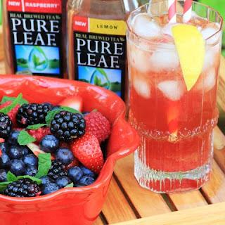 Raspberry Rhubarb Iced Tea Fizz