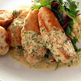 Sauteed Chicken Breasts With Dijon Herb Sauce.