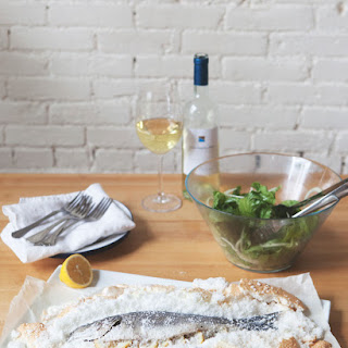 Salt Baked Fish with Fennel Escarole Salad + Caper Vinaigrette