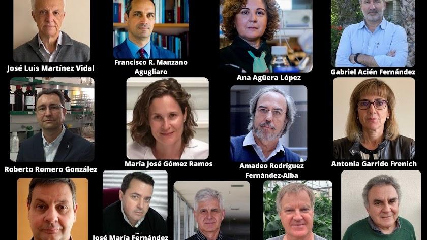 Estos son los trece investigadores almerienses incluidos en el ranking