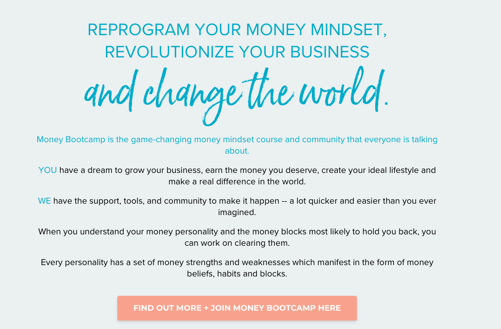 CTA for money bootcamp
