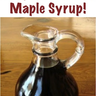 Easy Homemade Maple Syrup.