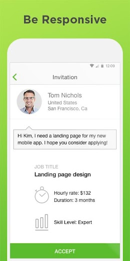Screenshot 2 for Upwork's Android app'